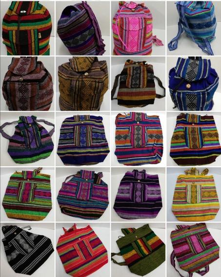 Mochila Tejida Diferentes Colores
