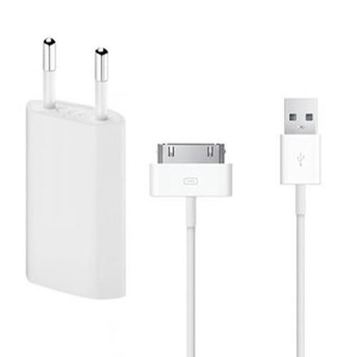 Cargador iPhone 4 + Cable 30 Pin Original Apple | Maxtech