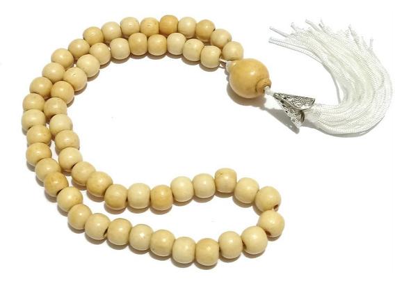 Japamala 54 Contas 10mm Madeira Marfim