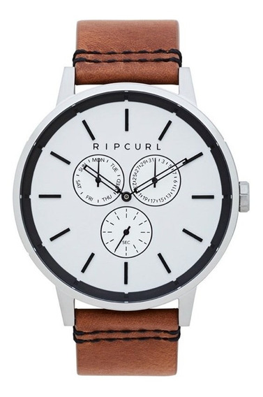 Relógio Rip Curl Detroit Multieye Leather Silver