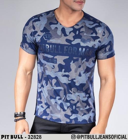 Camiseta Masculina Pit Bull Jeans Original 32828 (enc)