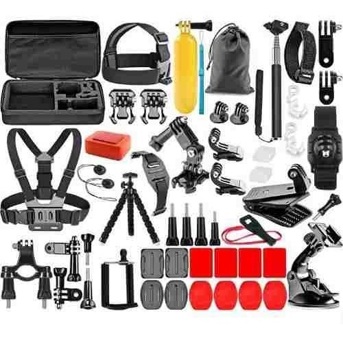 Kit Acessorios Suportes Gopro Hero 4 Session 5 6 7 Black 54