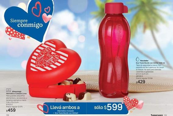 Tupperware Botella + Hermético Corazón