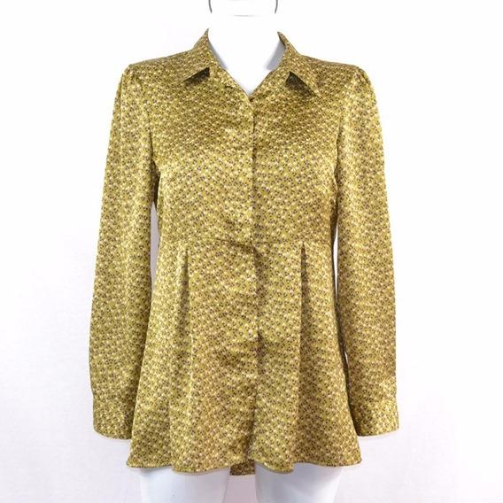 Ivonne Camisa Verde Flores 6 Msrp $600