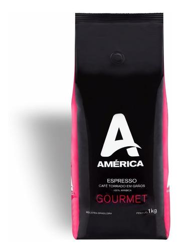 Café Em Grãos Gourmet América 100% Arabica 1kg
