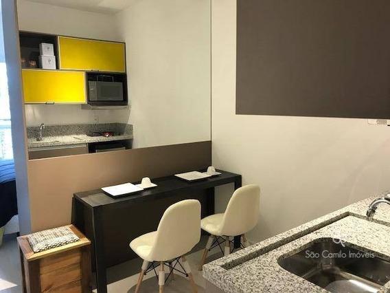 Flat Com 1 Dormitório Para Alugar, 27 M² Por R$ 1.968/mês - New Studio Granja Viana - Granja Viana - Cotia/sp - Fl0001