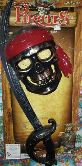 Set Juego Pirata Espada Y Mascara