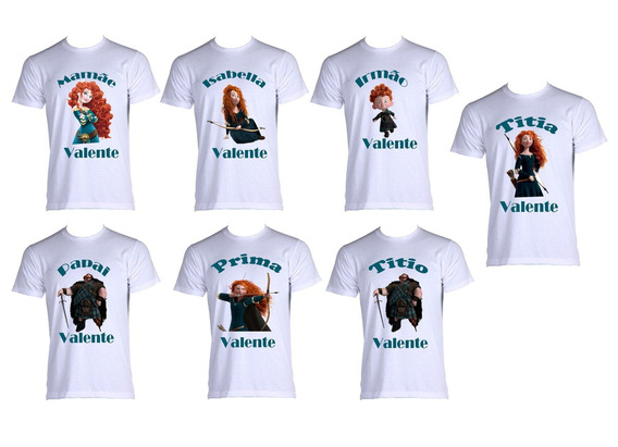 Kit 7 Camisetas Familia Aniversário Valente