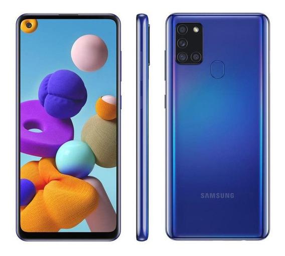 Smartphone Samsung Galaxy A21s 64gb Azul 4g - 3gb Ram 6,5 C