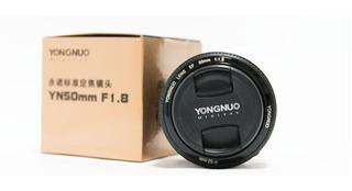 Lente Yongnuo 50mm F/1.8 Para Canon Nuevo Con Tienda