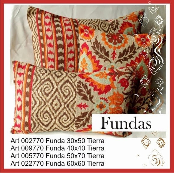 Fundas 50x70 Línea Florinda Tierra