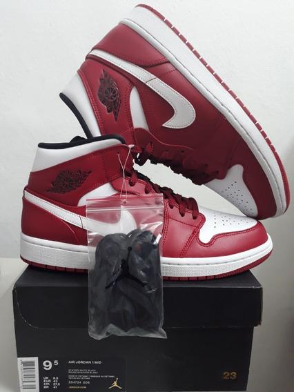 Tenis Air Jordan 1 Mid Gym Red Chicago Talla 27.5cm-9.5usa