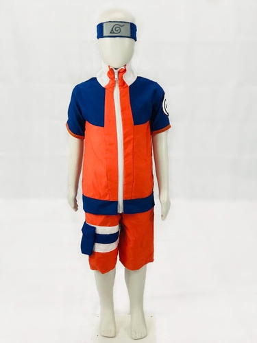 Fantasia Naruto Cosplay Infantil Verão Carnaval