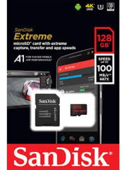Cartão Memória Sandisk Extreme Microsdhc 128gb 100mbs