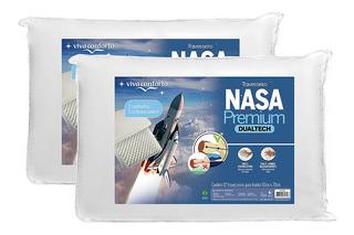 Kit 2 Travesseiros Nasa Premium Dual Tech Viva Conforto