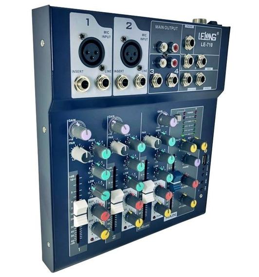 Mesa De Som Mixer Mp3 Player Digital Usb 4 Canais Bluetooth