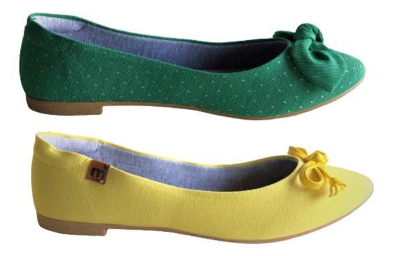 Kit 2 Sapatilhas Femininas Rasteira Moleca Original Eco
