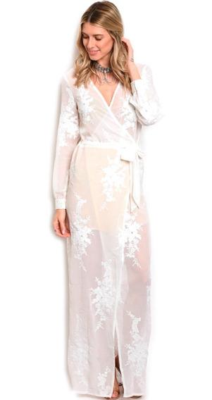Vestido De Fiesta Largo, Elegante, Manga Larga, Lazo Cintura
