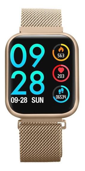 Relógio P80 Inteligente Esporte Saúde Fitness Tracker Ouro