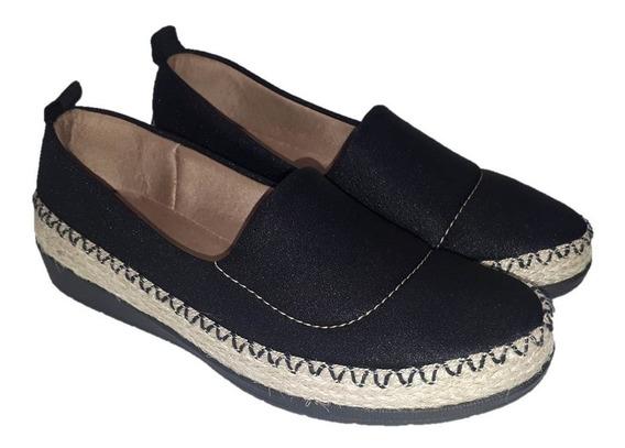 Sapato Feminino Usaflex Lycra Shine Diabetes Ac3003db Preto