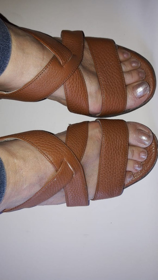 Sandalias Taco Chino Color Suela N° 39