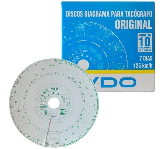 Disco Para Tacografo Semanal 125km 7d Caixa Com 10 Jogos Vdo