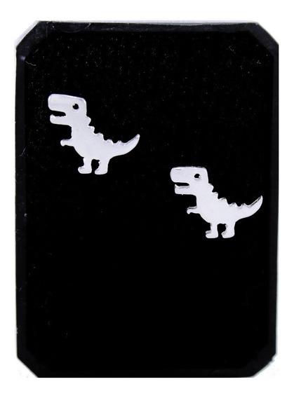 Aretes De Dinosaurio T-rex En Plata Ley .925 Joyería