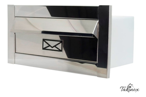 Caixa De Correio Frente Inox Branca Preta Carta Luxo Moderno