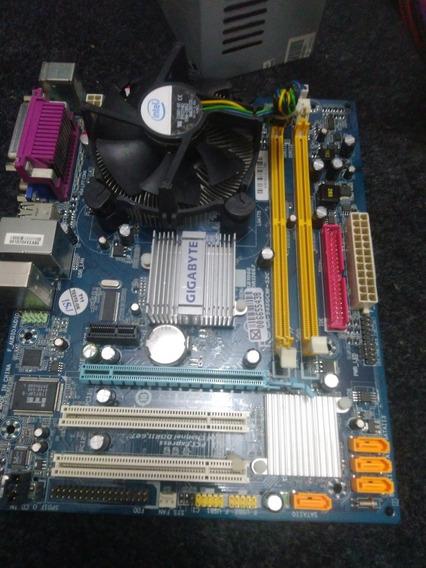 Placa Mãe Gigabyte 775+processador Dual Core+2gb Nem Ddr2