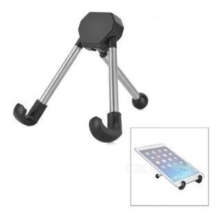 Suporte Celular Mesa Escritorio Aluminio Tablet Mini Tripe