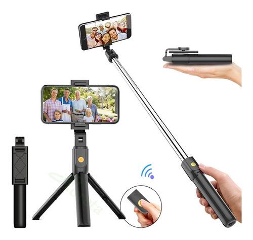 Imagen 1 de 9 de Baston Selfie Stick Tripie Control Celular Remoto Bluetooth