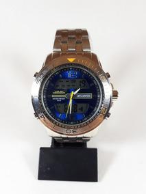 Relógio Masculino Atlantis Aço Inoxidável Analógico Digital