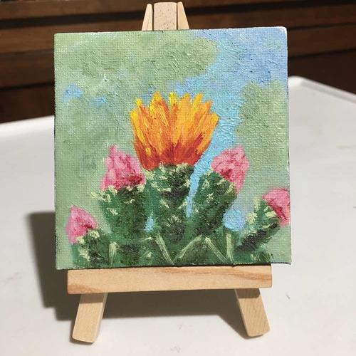Mini Cuadro Decorativo Flor De Nopal
