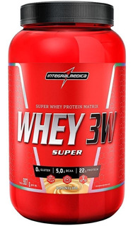 2 Potes De Super Whey 3w Integralmédica 907g ( Val 03.2020 )