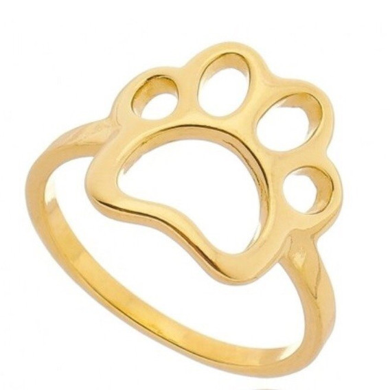 Anel Patinha De Cachorro (banhado A Ouro)