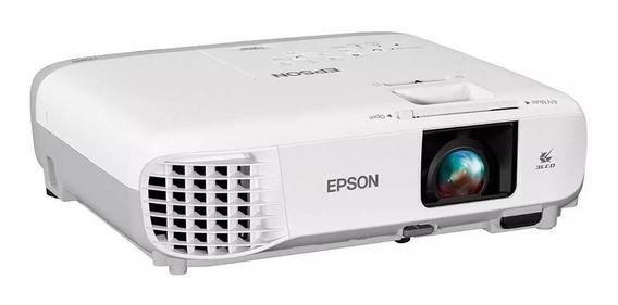 Projetor Epson W39 Lcd Com Wi-fi E Conexão Usb E Hdmi Branco