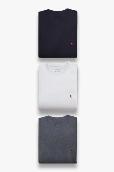 Kit Bordado 3 Camisetas Pica Pau Brasa Reserva
