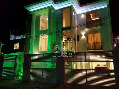 Imagem 1 de 30 de Casa Com 4 Dormitórios À Venda, 261 M² Por R$ 3.500.000,00 - Camboinhas - Niterói/rj - Ca1217