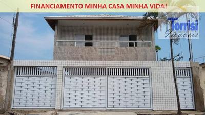 Casa De Condomínio Sobreposta Alta Em Praia Grande, 02 Dormitórios, Sala, Cozinha, Área De Serviço, 01 Vaga De Garagem No Parque Das Américas Ca0101 - Ca0101