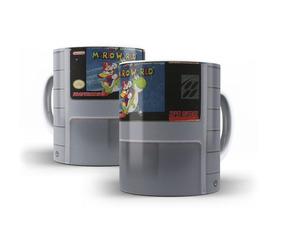 Caneca Cartucho Super Mario Nintendo Jogo - Mega Oferta!!!