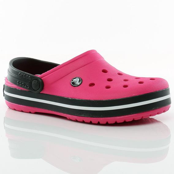 Suecos Sandalias Crocband Pink Black Crocs Sport 78