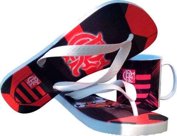 Chinelo Flamengo Kit Barato 3 Pares Com Uma Caneca De Brinde