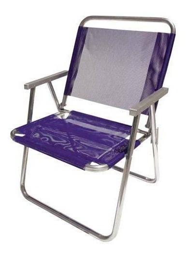Cadeira De Praia Varanda Xl 130 Kg Alumínio Roxa - Botafogo