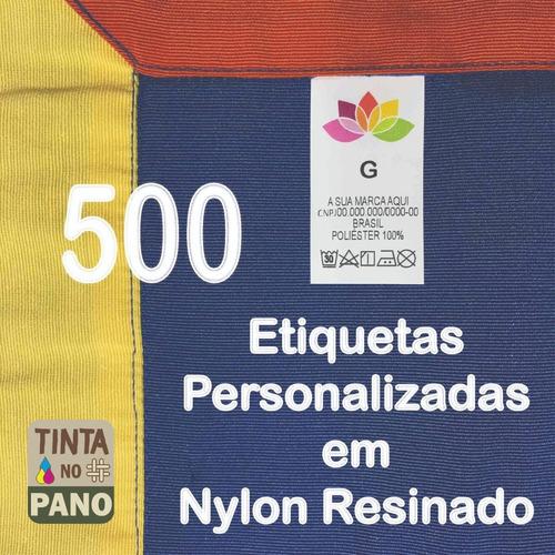 500 Etiquetas Nylon Colorida Personalizada Para Composição.