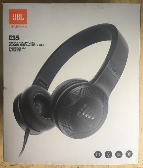 Fone De Ouvido Jbl E35 On Ear Headphones Com Fio