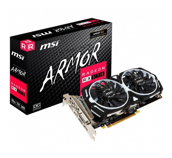 Placa de video AMD MSI Radeon RX 500 Series RX 570 RADEON RX 570 ARMOR 8G OC OC Edition 8GB