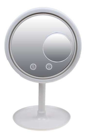 Espelho Maquiagem Led Ventilador Beleza Iluminador +espelho