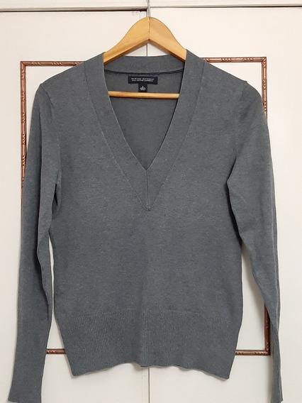 Sweater Escote V Color Gris Banana Republic