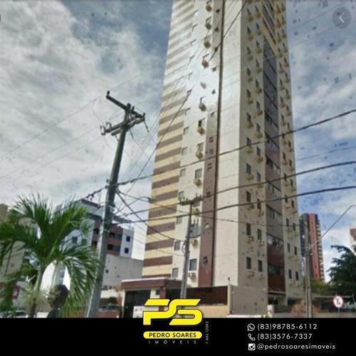 Apartamento Com 3 Dormitórios À Venda, 67 M² Por R$ 270.000 - Manaíra - João Pessoa/pb - Ap3546