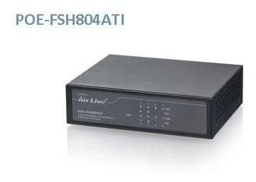 Air Live Al-poe-fsh804ati Switch 8 Puertos 10/100mbps 4 Ptos